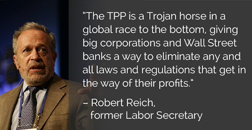 Robert Reich, TPP Disaster